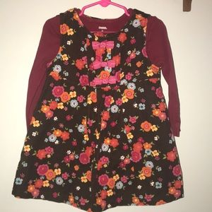 Girls Floral Fall Outfit